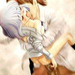 駅弁ファック:抱え込まれて奥まで激しく突かれてる二次の女の子
