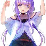 【2次】紫色のした髪の女の子キャラのエロイラスト:その17