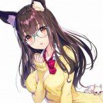 【二次】清楚な見た目のメガネ美少女のエロイラスト:その16
